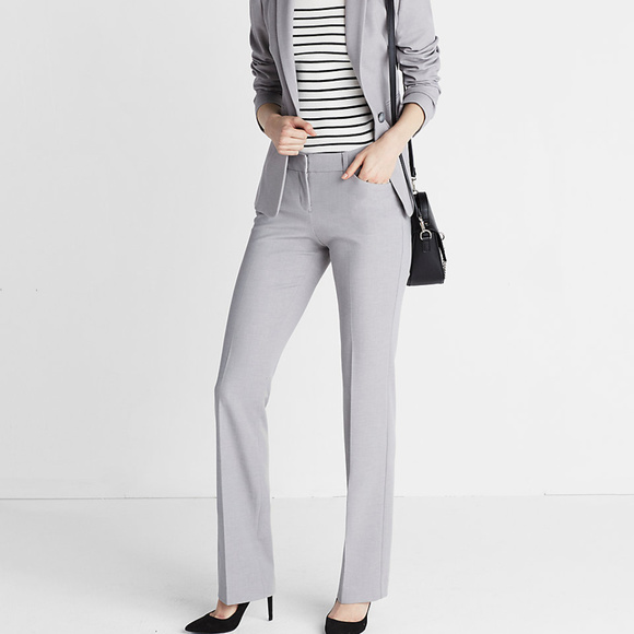 6c0160384f3f10 Express Pants - Express Women Light Grey Business Pants